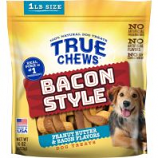 Tyson Pet Products - True Chews Bacon Style Dog Treats - Bacon/Peanut Butter - 16 Oz