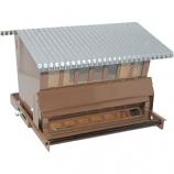Audubon/Woodlink - Rustic Farmhouse Feed/Seed Squirrel - Resist Feeder - Brown - 15  Lb