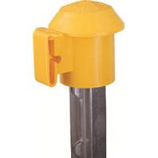 Dare Products Inc-T Post Top R Safety Top & Electric Fence Insulator-Yellow-10 Pack