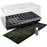 Hydrofarm Products - Hot House With Heat Mat - Black - 11X22 Inch
