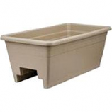 Myers Industries L&Ggroup - Deck Rail Box Planter - Mocha - 24 Inch