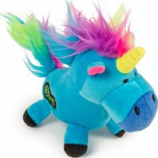 Quaker Pet Group - Godog Unicorns Durable Plush Dog Toy - Blue - Large