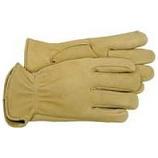 Boss Manufacturing -Premium Grain Deerskin Leather Driver Glove-Tan-Extra Large