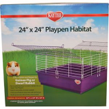 Super Pet - Kaytee My First Home Playpen Habitat - Purple - 24X24 In