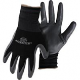 Boss Manufacturing -Mens Nylon Nitrile Gloves-Black-Medium