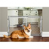Carlson Pet Products - Plastic Expandable Gate W/Steel Support Rod - Gray - 42W X 23H
