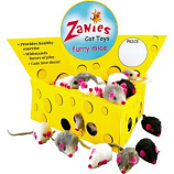 Zanies - Cheese Wedge Cat Toy Display - 60 Fur Mice