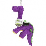 Quaker Pet Group - Godog Dinos Bruto Durable Plush Squeaker Dog Toy - Purple - Small