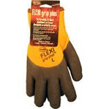 Boss Manufacturing -Flexi Grip Plus High-Vis Latex Palm-Orange-Large