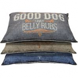Dallas Mfg Company - Good Dog Graphic Pillow Bed - Assorted - 30In X 40In