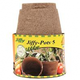 Jiffy/Ferry Morse Seed - Jiffy - Pots Seed Starters - Brown - 5 Inch/6 Pack