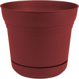 Bloem - Saturn Planter - Burnt Red - 10 Inch