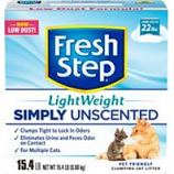 Clorox Petcare Products - Fresh Step Simply Unscented Lw - Unscented Lw - 15.4 Lb