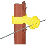 Dare Products Inc-Chain Link U Post Insulator-Yellow-25 Pack