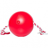 Ethical Dog - Tuggo Ball With Rope - Red - 4 Inch