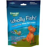 Emerald Pet Products - Wholly Fish Chicken - Free Cat Treats - Tuna - 3Oz