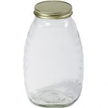 Miller Mfg - Little Giant Glass Honey Jar With Lid--32 Ounce/12 Pack