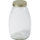 Miller Mfg - Little Giant Glass Honey Jar With Lid--32 Ounce/12 Pack