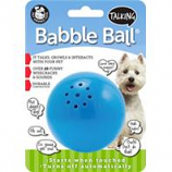 Pet Qwerks - Talking Babble Ball-Blue-Medium