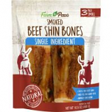 Ims Trading Corporation - Farm To Paws Smoked Shin Bones - Beef - Small/3 Pack
