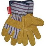 Kinco International-Grain Pigskin Palm Glove-Tan/Blue/Red-Youth