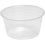 Bond Manufacturing - Deep Plastic Saucer-Clear-6 Inch