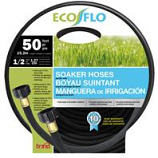 Bond Manufacturing - Eco Flo Soaker Hose Garden Hose-Black-1/2 Inx50 Ft