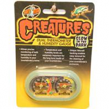 Zoo Med Laboratories - Creatures Thermometer/Humidity Gauge Glow