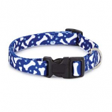 Casual Canine - Patterns Collar Bone - 6-10Inch - Blue
