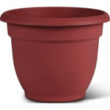Bloem - Bloem Ariana Planter With Grid - Burnt Red - 8 Inch