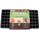 Jiffy/Ferry Morse Seed - Pro - Hex Tray Professional Seed Starting Tray - Black - 72 Cell