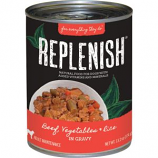 Replenish Pet - Grain Free Canned Dog Food - Beef/Veggies/Rice - 13.2 oz