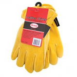 Boss Manufacturing -Therm Insulated Split Deerskin Driver Glove-Yellow-Small