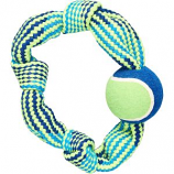 Ethical Dog - Colorful Rope Knot Ring - Assorted - Med/13 Inch