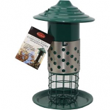 Audubon/Woodlink - Combination Mealworm Suet Ball And Peanut Feeder - Green