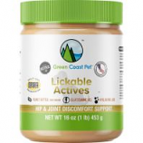 Green Coast Pet - Lickable Actives Hip & Joint Discomfort Support - Peanut Butter - 16 Oz