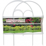 Garden Zone - Round Folding Fence - White - 18X8