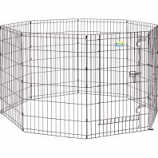 Midwest Container - Contour Exercise Pen With Door - Black - 36In