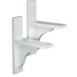 The Master Gardner - Window Box Brackets 1 Pair - White - Universal