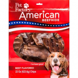 Pet Factory - American Beefhide Chips - Beef - 22 Oz