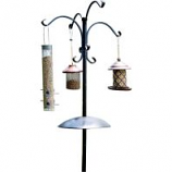 Audubon/Woodlink - Four Way Bird Feeding Station W/Squirrel Baffle - Black - 90 Inch