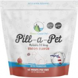 Green Coast Pet - Pill-A-Pet Moldable Pill Wraps W/Probiotics - Bacon - 16 Oz