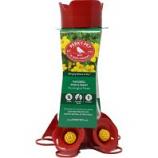 Woodstream Hummingbird - Pinch Waste Hummingbird Feeder - Red - 16 Oz