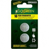 Gogreen Power - Lithium Battery For Electronics And Watches - Silver - Cr2032/2 Pack