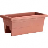 Novelty Mfg - Countryside Over The Rail Planter - Terra - 24 Inch