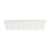 Novelty Mfg -Countryside Flowerbox Tray-White-18 Inch