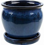 Southern Patio - Clayworks Wisteria Planter - Blue - 12 Inch