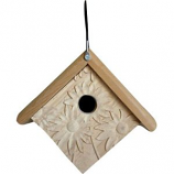 Welliver Outdoors - Welliver Outdoors Carved Daisy Wren House - Natural