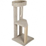 Ware Mfg-  Dog/Cat - Kitty Hangout Cat Furniture-Natural-20Wx20Dx47H