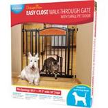 Carlson Pet Products - Design Paw Auto Close Gate - Black - 30.5 - 37.5X28